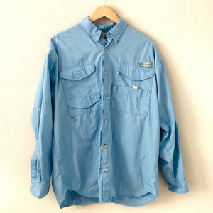 Columbia Mens PFG Long Sleeve Button Down Shirt